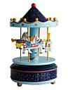 DIY KIT Music Box Toys Circular Horse Carousel Plastic Pieces Unisex Birthday Gift