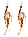 Серьги-слезки Бижутерия Геометрический вбок Не настоящие Pоскошные ювелирные изделия Простой стиль Английский Перья СплавГеометрической