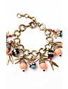 Femme Charmes pour Bracelets Bijoux Amitie Bijoux de Luxe Alliage Forme de Feuille Bijoux Pour Soiree Anniversaire