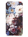 Capinha Para Apple iPhone 7 Plus iPhone 7 Estampada Capa traseira Flor Rigida PC para iPhone 7 Plus iPhone 7 iPhone 6s Plus iPhone 6s
