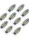 10 pcs 31 mm 6 * 2835 smd led voiture ampoule lumiere blanche dc12v