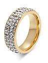 Dame Krystal Ring - Titanium Stål Damer, Personaliseret, Basale, Mode, Euro-Amerikansk Smykker Guld / Sølv Til Bryllup Fest Jubilæum Fødselsdag Tillykke Graduation 5 / 6 / 7 / 8 / 9