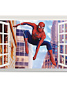 3D Cartoon Window Wall Stickers Movie Film Character/ Figure Spiderman PVC Wall Decals Home Decoration For Kids Room