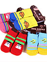 Cat Dog Socks Cute Casual/Daily Keep Warm Cartoon White/White Light gray Random Color black+black bright blue For Pets