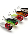 5 pcs Hard Bait Popper Fishing Lures Lure Packs Popper Hard Bait Hard Plastic Plastic Sea Fishing Bait Casting Lure Fishing