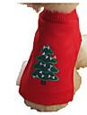 Собака Свитера Одежда для собак Рождество Очаровательный Мода Мультфильмы Желтый Красный Синий Черный Костюм Для домашних животных