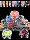 12 Мода Несколько цветов Цветной Маленький размер Повседневные Дизайн ногтей