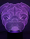 tortues bulldog touch gradation 3d led nuit lumiere 7colorful decoration atmosphere lampe nouveaute eclairage lumiere