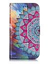 For Case Cover Wallet Card Holder with Stand Flip Embossed Pattern Magnetic Full Body Case Mandala Hard PU Leather for SamsungJ3 J3