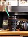 Home Use Durable DIY ABS Travel Coffee Mug Cup Water Coffee Tea Camera Lens Cup With Lid Gift