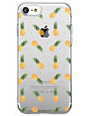 Pour iPhone X iPhone 8 Etuis coque Transparente Motif Coque Arriere Coque Fruit Flexible PUT pour Apple iPhone X iPhone 8 Plus iPhone 8