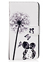 for Samsung Galaxy s8 s8 Plus Case Cover Couple Dandelion Pattern PU Material Card Sten Twallet Phone Case S7 S6 S5 S7edge S6edge