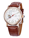 Women\'s Fashion Watch Mechanical Watch Quartz Leather Band Black Brown Pink
