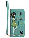 For Samsung Galaxy S8 Plus S8 Phone Case PU Leather Material Woman and Cat Pattern Luminous Phone Case S7 Edge S7 S6 Edge S6 S5 S4 S3