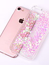 Case For Apple iPhone X / iPhone 8 / iPhone 8 Plus Flowing Liquid / Transparent Back Cover Glitter Shine Hard PC for iPhone X / iPhone 8 Plus / iPhone 8