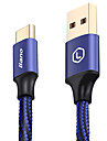 Type-C Braided Portable Gold Plated Quick Charge Cable For Samsung Huawei Sony Nokia HTC Motorola LG Lenovo Xiaomi cm Aluminum Nylon