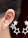 Mulheres Estrela Cristal Cristal Brincos Curtos - Adoravel Estrela Para Presentes de Natal Casamento Festa Ocasiao Especial Aniversario