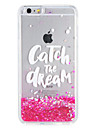 Case for Apple iPhone7 7 Plus  Glitter Shine Word Phrase Flowing Liquid Pattern Soft TPU  6s Plus  6 Plus 6s 6