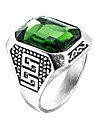 Men\'s Ring Synthetic Emerald Unique Design Fashion Euramerican Zircon Emerald Alloy Jewelry Jewelry For Wedding Special Occasion