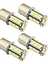 4PCS 1156 / Ba15s / 1157 3W LED car light bulb 18 SMD 5050 taillight / brake / turn / stop light DC 12V white/warm white