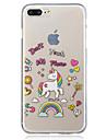 Coque Pour Apple iPhone 7 Plus iPhone 7 IMD Transparente Motif Coque Licorne Flexible TPU pour iPhone 7 Plus iPhone 7 iPhone 6s Plus