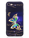 Coque Pour Apple iPhone X / iPhone 8 Strass / Motif Coque Papillon Flexible TPU pour iPhone X / iPhone 8 Plus / iPhone 8