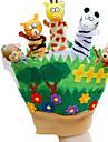 Fantoche de Dedo Fantoches Brinquedos Rabbit Animal Fofinho Animais Adoravel Felpudo Crianca Pecas