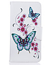Custodia Per iPhone 7 / iPhone 7 Plus / iPhone 6s Plus A portafoglio / Porta-carte di credito / Con supporto Integrale Farfalla / Fiore decorativo Resistente pelle sintetica per iPhone SE / 5s