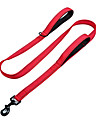 Reflective Nylon Neoprene Adjustable Double Handed Durable Safety Leash for Dogs