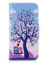 Coque Pour Samsung Galaxy A5(2017) A3(2017) Portefeuille Porte Carte Avec Support Clapet Relief Motif Coque Integrale Chouette Dur Cuir PU