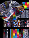 48Pcs Shimmer Starry Sky Nail Foil Colorful Nail Starry Glitter Transfer Sticker Manicure Nail Art Decoration