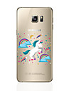 Capinha Para Samsung Galaxy S8 Plus S8 Transparente Estampada Capa Traseira Unicornio Macia TPU para S8 Plus S8 S7 edge S7 S6 edge plus