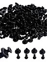 ZIQIAO 100pcs 8mm Plastic Rivets Fastener Clips Push Pin For Car Auto Fender Bumper