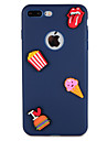 Capinha Para Apple iPhone 7 Plus iPhone 7 Estampada Capa traseira Comida Coracao Desenhos 3D Macia Silicone para iPhone 7 Plus iPhone 7