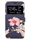 Capinha Para Samsung Galaxy A5(2017) A3(2017) Porta-Cartao Com Suporte Estampada Corpo Inteiro Flor Rigida Couro Ecologico para A3 (2017)
