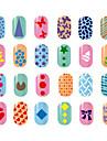 10 pcs Placa de Carimbar Modelo Estiloso / Fashion Nail Art Design Design Moderno Diario
