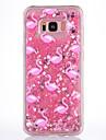 Caso para samsung galaxy s8 s8 plus capa capa rosa padrao de flamingo material tpu cheio suave amor flash em po caixa de telefone de areia