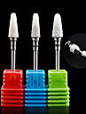 1PCS Nail Art Ceramic Electric Grinding Head Polishing Nail Tool  Grinding Machine Special Grinding Needle 18#-20# Optional
