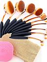 10pcs Pinceaux a maquillage Professionnel Pinceau Eye-liner Pinceau Fard a Joues Pinceau Fond de Teint Pinceau a Levres Brosse a sourcils Pinceau Fard a Paupieres Pinceau Correcteur Pinceau a Contour
