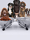 Cat Dog Bowls & Water Bottles Pet Bowls & Feeding Wateproof Adjustable/Retractable Portable Double-Sided Foldable Durable Random Color