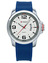 남성용 스마트 시계 패션 시계 손목 시계 독특한 창조적 인 시계 스포츠 시계 드레스 시계 중국어 석영 달력 방수 큰 다이얼 실리콘 밴드 참 창조적 멋진 멀티컬러