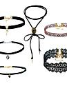 Femme Set de Bijoux Pendentif de collier Colliers chaines Ruban Mode Multivoies Porter Afrique Simple StyleAlliage de metal Materiel