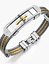 Men\'s Bracelet Bangles - Stainless Steel Rock, Gothic, Fashion Bracelet Jewelry Gold / White For Party Birthday Party / Evening Gift Evening Party