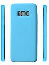 Pour Etuis coque Antichoc Coque Arriere Coque Couleur unie Flexible Silicone pour Samsung S8 S8 Plus