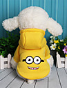 Dog Sweatshirt Dog Clothes Cartoon Purple Yellow Red Blue Fleece Cotton Costume For Pets Casual/Daily