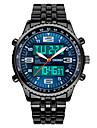Смарт-часы Защита от влаги Длительное время ожидания Спорт Многофункциональный Секундомер будильник Календарь С двумя часовыми поясами