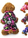 Cat Dog Coat Shirt / T-Shirt Sweatshirt Dog Clothes Heart Black Fuchsia Blue Polar Fleece Costume For Pets Women\'s Party Casual/Daily