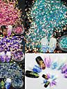 4pcs/Set Пайетки / Гель для ногтей Элегантный и роскошный / Блеск и сияние Инструменты и аксессуары / Дизайн ногтей