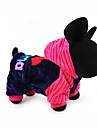 Dog Hoodie Clothes/Jumpsuit Dog Clothes Casual/Daily Letter & Number Blue Pink