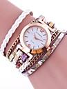 Жен. Кварцевый Часы-браслет Китайский Горячая распродажа PU Группа Винтаж На каждый день Elegant Мода Черный Белый Синий Красный